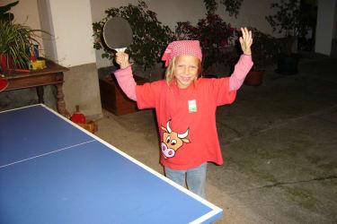 Tischtennisspielen macht Spaß