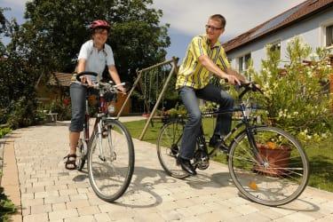 unsere Fahrräder