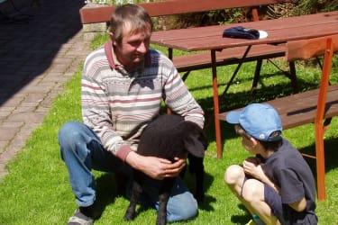 Bauer Karl, David und ein junges Lamm