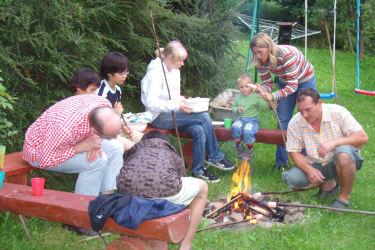 Lagerfeuer  mit Würstelgrillen
