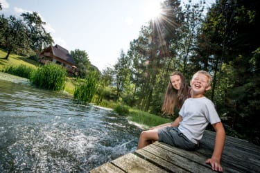 Prannleithen - Abkühlung am Teich