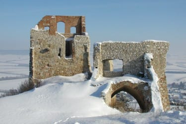 Ruine im Winter
