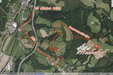 Anfahrtsplan ab der Südautobahn (A2) Abfahrt Edlitz