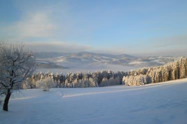 Ausblick am Wachahof - Winter