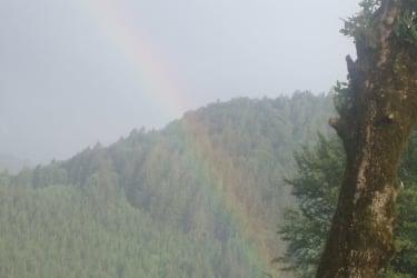 ein wunderschöner Regenbogen