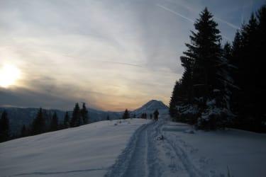 Schneeschuhwandern mit Ötscherblick