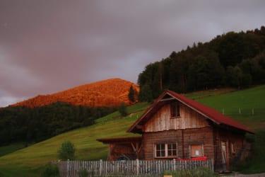 Zwergerlhof -Hier bei der Hütte ist unsere Lagerfeuerstelle