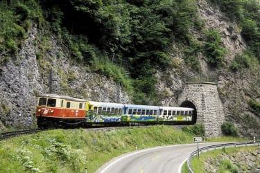 Zwergerlhof - Durch unser Dirndltal faehrt die Maziazellerbahn bzw. jetzt auch Himmelstreppe genannt- Ein Schmalspurjuwel