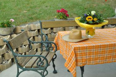 Entspannung und Ruhe auf der Terrasse