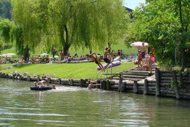 Karhof - Flussbaden in der Pielach - das ist möglich im Freibad von Rabenstein (Foto (C) Gottfried Auer)