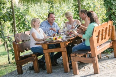 Heurigen im Weingarten