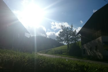 die letzten Sonnestrahlen am Biobauernhof Kurzeck