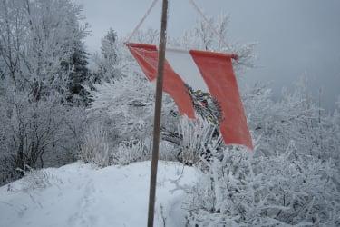 Gipfelfahne auf dem Höhenstein