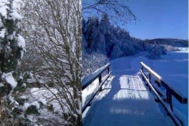 Atmen Sie sich frei in frischer Winterluft