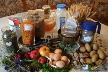 Verpflegung mit Produkten vom eigenen Garten