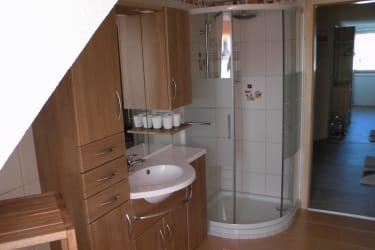 Ferienwohnung zum Storchennest - Bad
