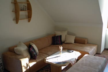 Ferienwohnung zum Storchennest - Wohnzimmer