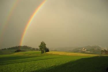 Ein Regenbogen über unserer Burg