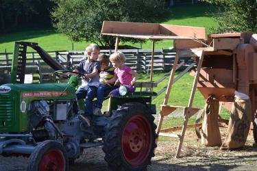 Der Traktor ist immer toll.