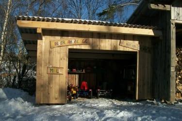 Garage für Kinderfahrzeuge, Mülltrennung