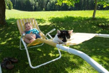 Erik mit Katze Lial