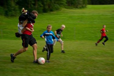 Spaß beim Fußballspiel