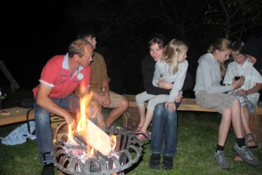 Abend am Feuerkorb