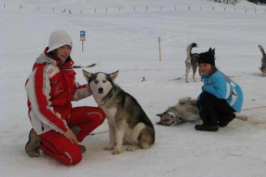 Besuch des Huskiescamps