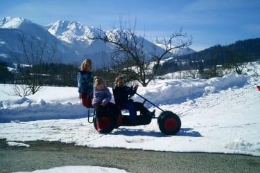 Gokartausfahrt im Winter