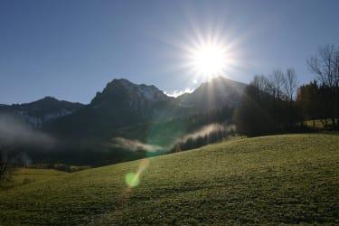 Pyhrgasblick im Sonnenlicht
