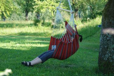 Entspannung im Hängesessel