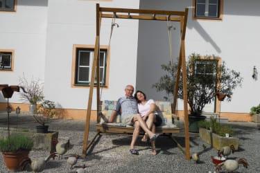 entspannen im Innenhof