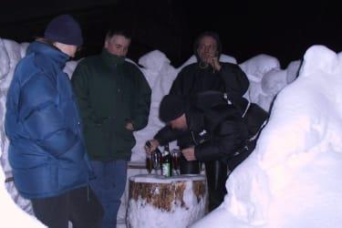 Schneeburg bauen macht durstig
