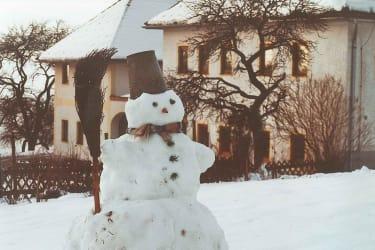 Ruck zuck ist der Schneemann fertig
