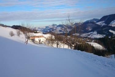 Ansicht unseres Hofes im Winter