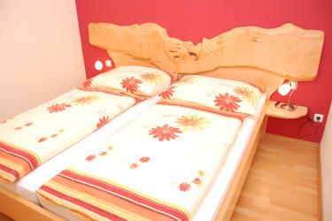 Bett der Ferienwohnung
