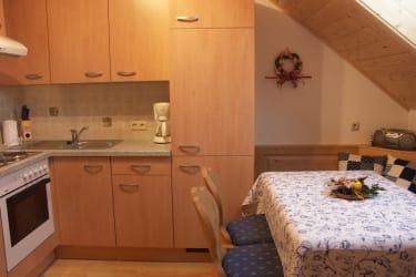 Küche Ferienwohnung Sternenhimmel