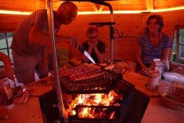 grillen in der Grillkota bei jedem Wetter