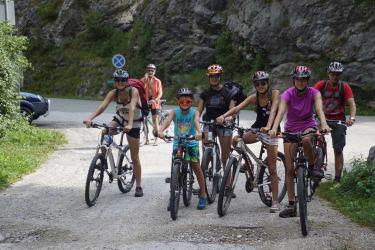 mit Leihrädern im Nationalpark unterwegs