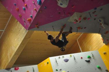 klettern in der Halle