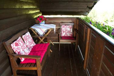 Balkon der Ferienwohnung Finkenkobel