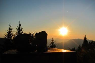 Sonnenuntergang auf der Ennser Hütte