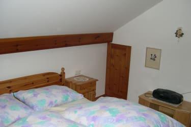 Schlafzimmer Ferienohnung NP Kalkalpen