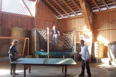 Heuhalle - Tischtennis, Trampolin