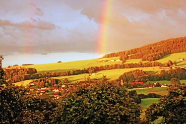 Regenbogen über Oberhofen