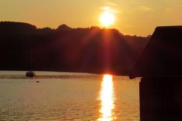 Sonnenuntergang über dem Irrsee