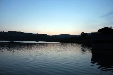 Irrsee Nordufer Sonnenuntergang