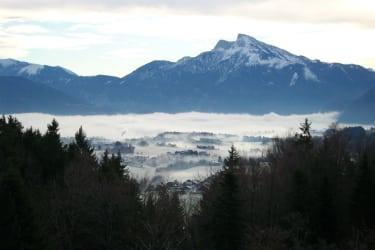 leichter Morgennebel im Winter