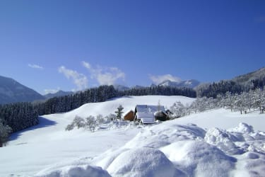 Winter am Margarethengut mit Schafberg