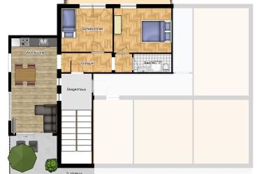 Skizze Wohnung Schafberg